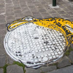 Oakoak// La grenouille d'Hokusai